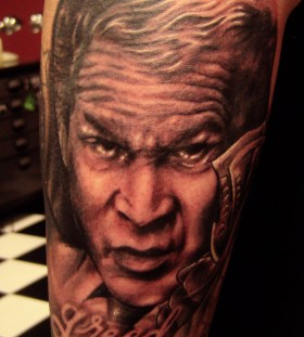 American President Bush tattoo