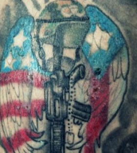 American guns military style tattoos