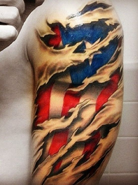 American military style tattoos