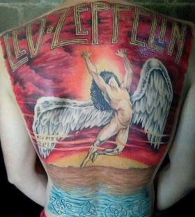 Angel music style tattoo
