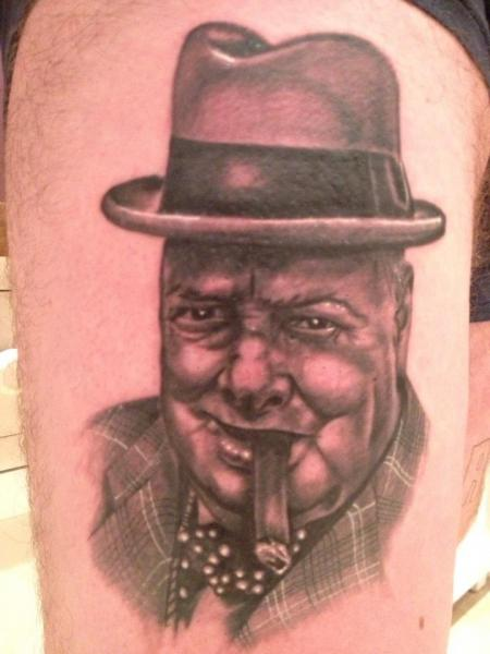 Awesome Churchill american president tattoo