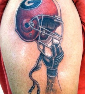 Awesome football tattoo