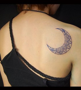 Awesome moon tattoo