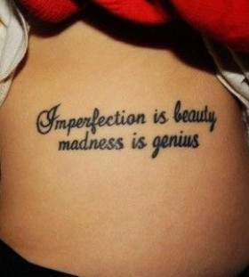 Awesome quote girl tattoo