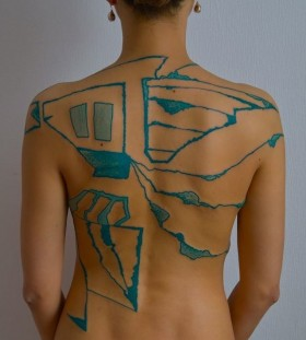 Back tattoo by Grisha Maslov