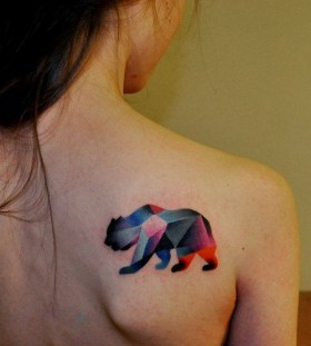 Bear watercolor tattoo