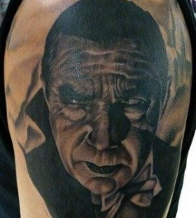 Bela Lagosi famous people portrait tattoo