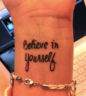 Believe in yourself girl tattoo