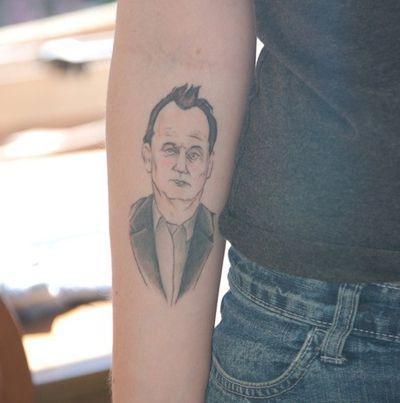 Bill Murray famous people tattoo