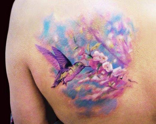 ab10f9302324e Birds and flowers tattoo by Adam Kremer - | TattooMagz › Tattoo ...