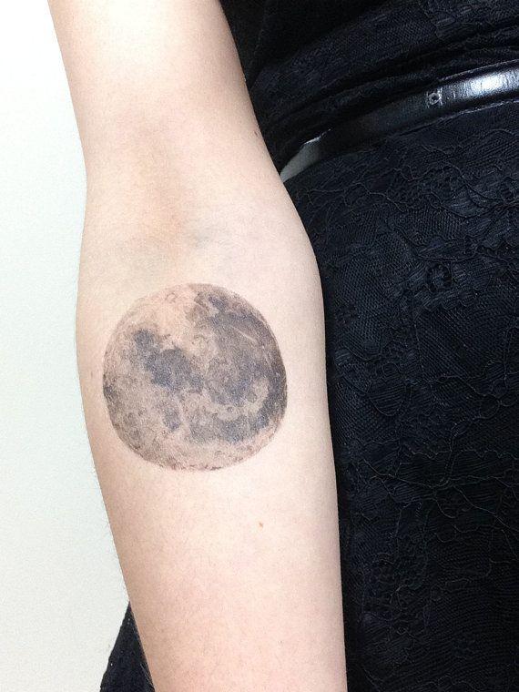 cf80fb0b01756 Black and white moon tattoo - | TattooMagz › Tattoo Designs / Ink ...
