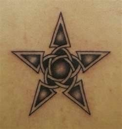 Black and white star tattoo