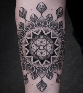 Black and white tattoo by Chaim Machlev
