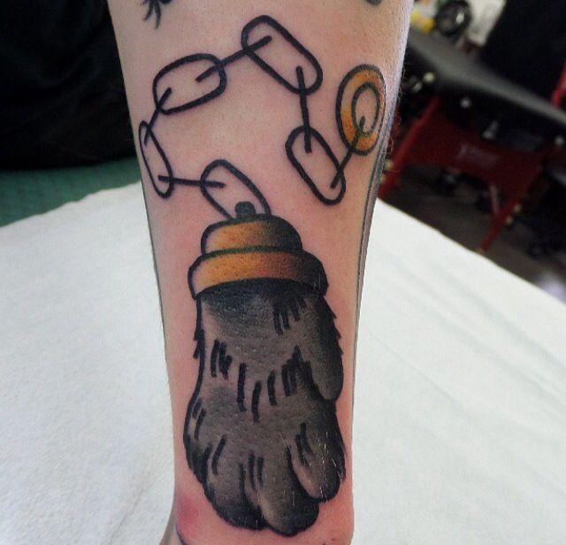 Black cat tattoo by Dustin Barnhart