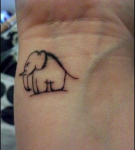 Black elephant wild tattoo