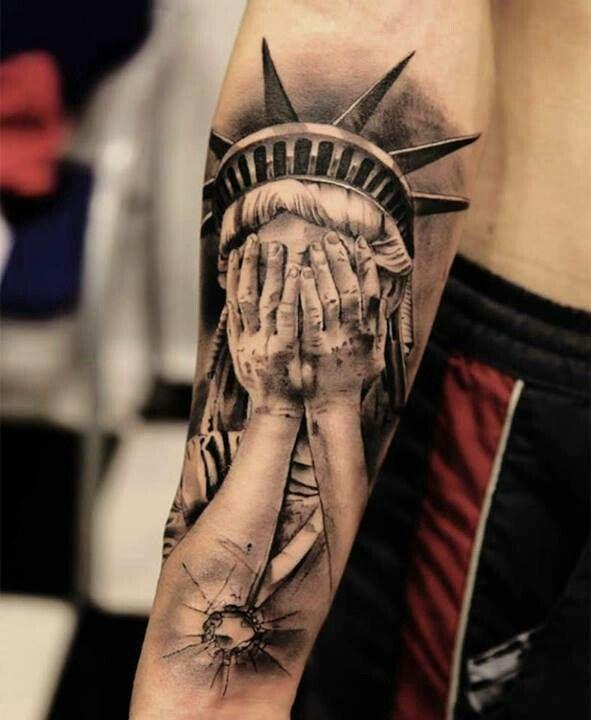 Black hand american style tattoo