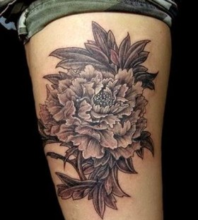 Black lotus flower tattoo