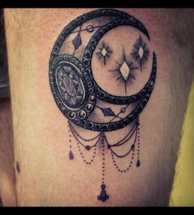 Black moon tattoo