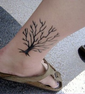 Black tree asian tattoo