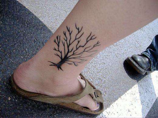 Black tree asian tattoo