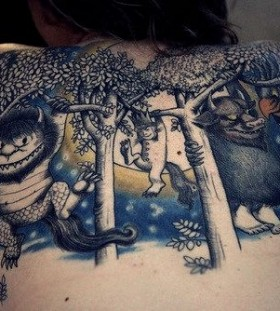 Blue animals wild tattoo