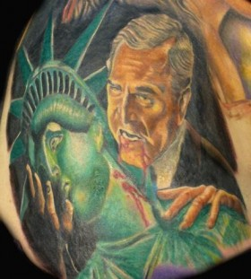 Bush american president tattoo
