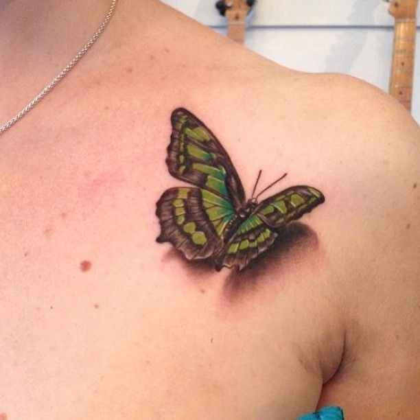 Butterfly realistic tattoo