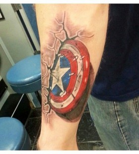 Captain american style tattoo