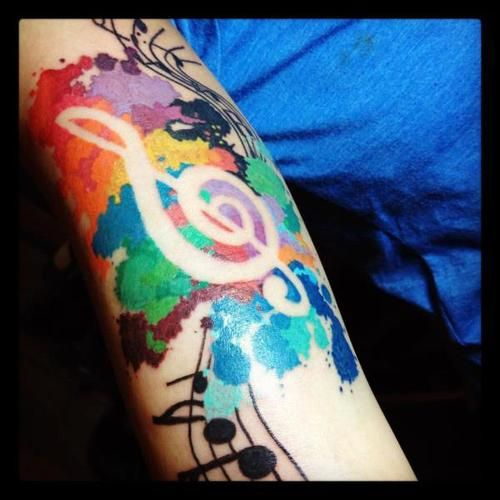 Colorful painting tattoo