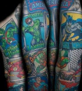 Comics american style tattoo