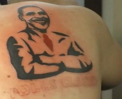 Cool Barack Obama american president tattoo