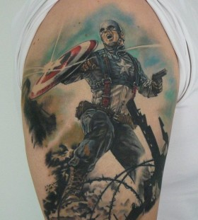 Cool american style tattoo