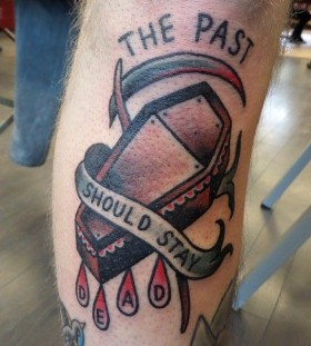 Cruel words and tattoo by Dustin Barnhart