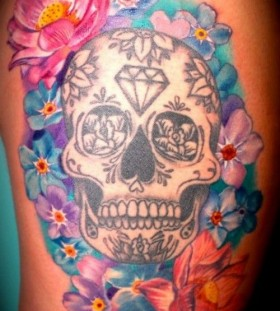 Crystal skull tattoo