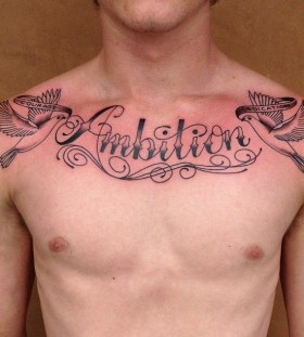 Cute man tattoo on chest