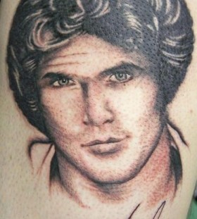 David Hasselhof famous people tattoo