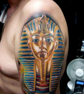 Egypt style tattoo by Adam Kremer