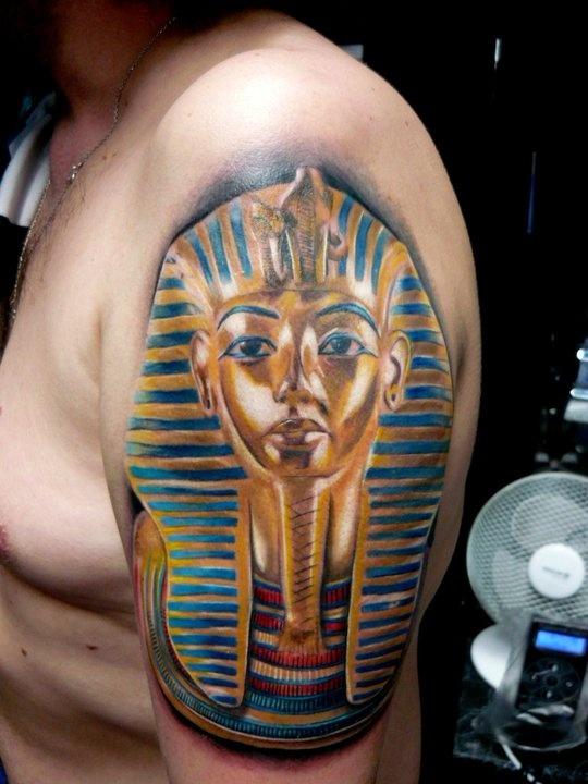 Egypt style tattoo by Adam Kremer