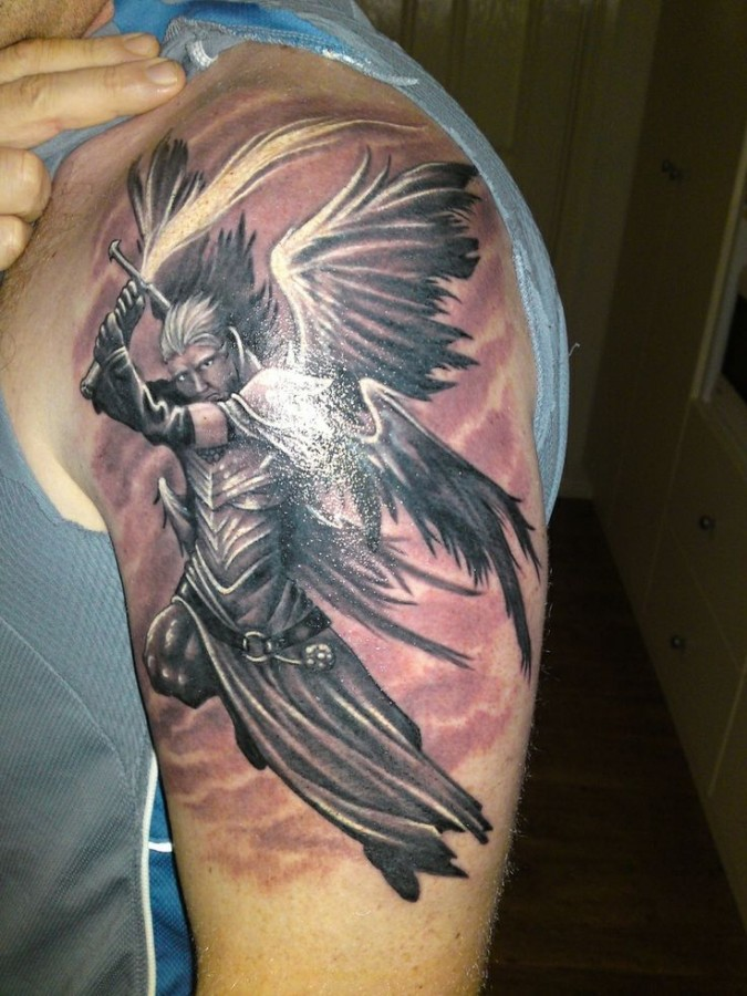 Fighter asian tattoo