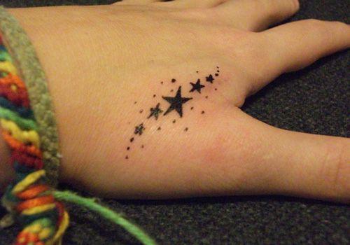 Fingers star tattoo