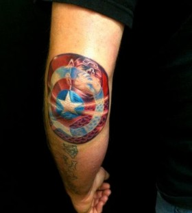 Flag and star american style tattoo