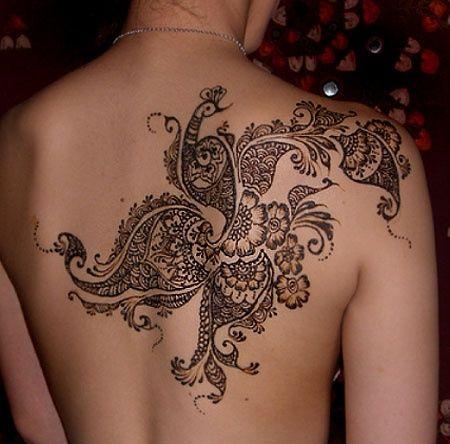 Flower ornaments lace tattoo