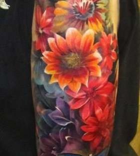 Flowers realistic tattoo