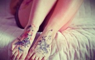 Foots painting tattoo