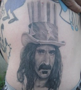Frank Zappa famous people portrait tattoo