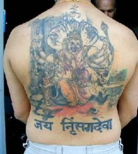 Full back asian tattoo