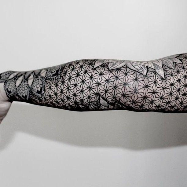 Full hand tattoo by Chaim Machlev