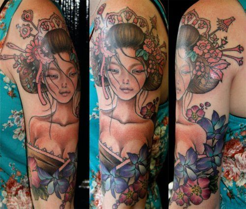 Geisha painting tattoo