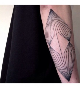Geometric lines tattoo
