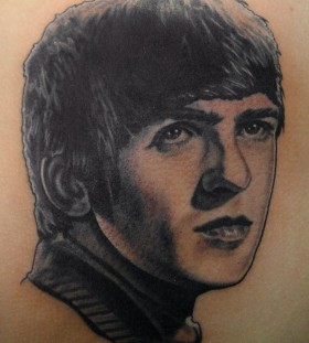 George Harrison famous people tattoo
